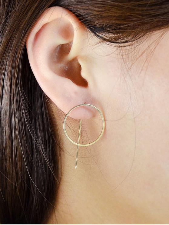Orecchini cerchio minimalista all'orecchio - Oro