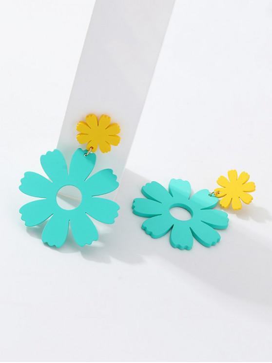 Boucles Bleu Foncé D'oreilles Fleur PendantesCiel Evidées PiwZOXlkuT