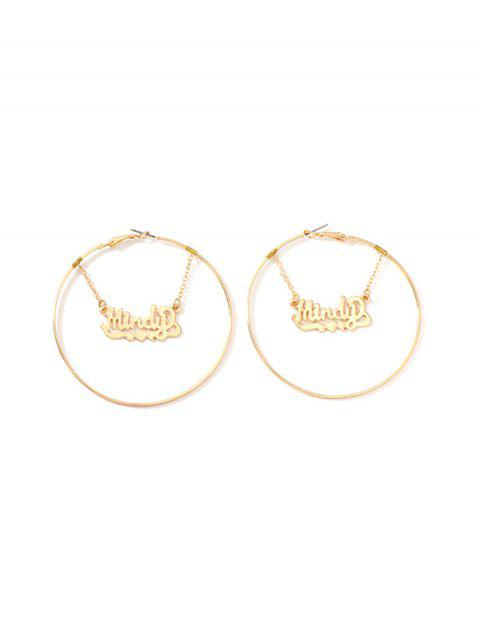 Boucles d'oreilles coeur en alliage - Or  Mobile