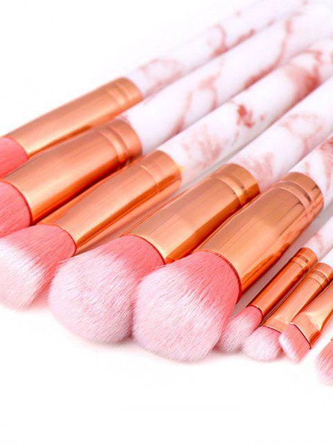 outfits 10Pcs Marble Pattern Makeup Brushes - TAN  Mobile