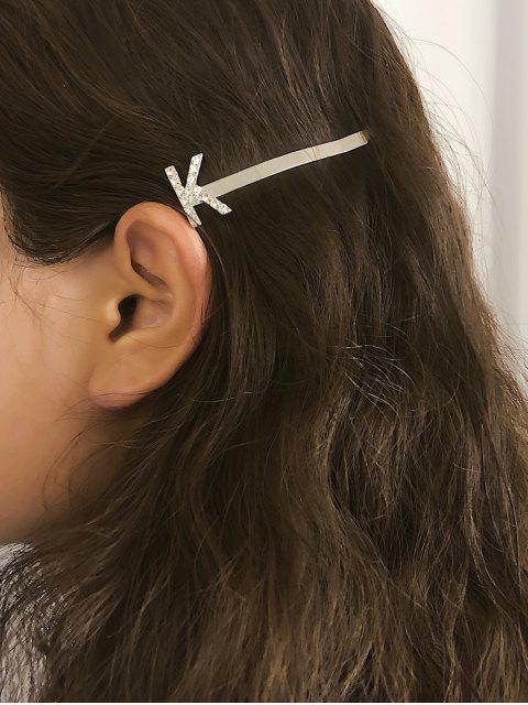 Pince à Cheveux Lettre Design en Métal en Diamant Artificiel - Multi-B  Mobile