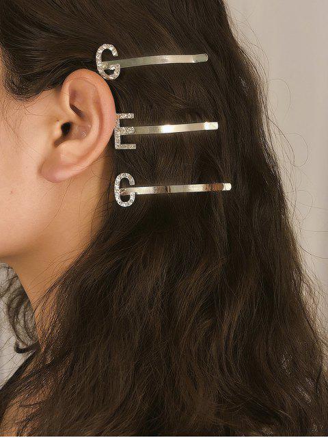 Pince à Cheveux Lettre Design en Métal en Diamant Artificiel - Multi-D  Mobile