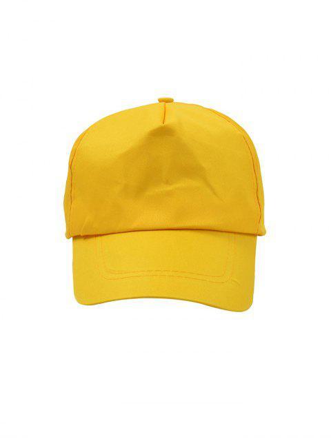 Chapeau de Baseball Chic Simple en Couleur Unie - Jaune  Mobile