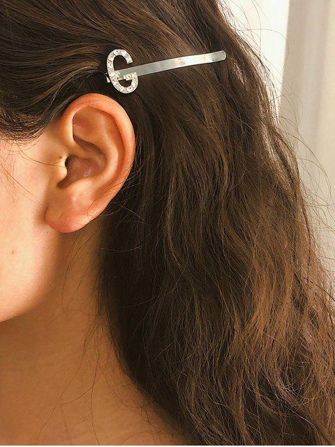 Pince à Cheveux Lettre Design en Métal en Diamant Artificiel - Multi-H  Mobile