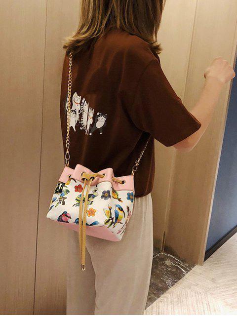 String - Sac seau à motif naturel - Blanc  Mobile
