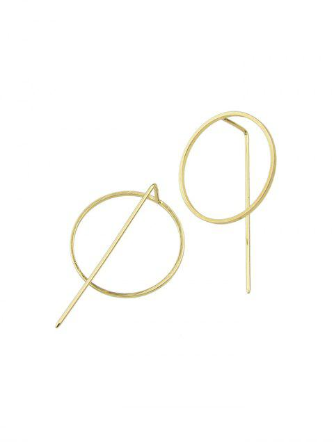 Boucles d'Oreilles Minimaliste Cercle - Or  Mobile