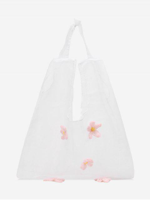 Sac Transparent Décoré de Fleur - Rose   Mobile