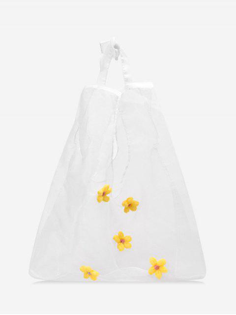 Sac Transparent Décoré de Fleur - Jaune  Mobile