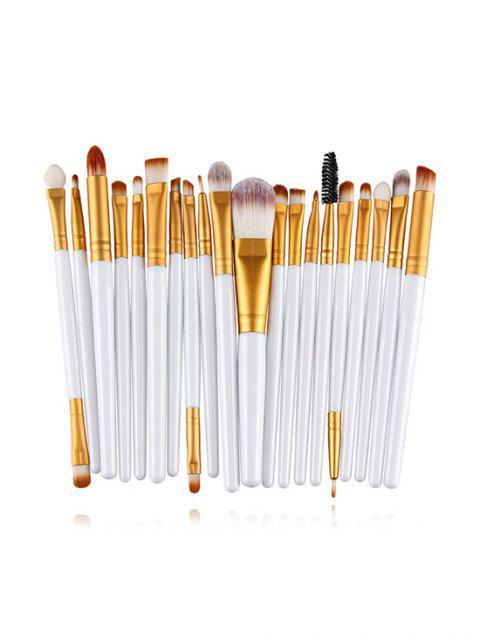 Ensemble de Brosses Outil de Maquillage 20 Pièces - Blanc  Mobile