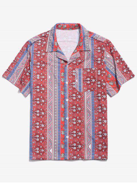 ZAFUL - Chemise boutonnée à poches à imprimé floral - Multi M Mobile