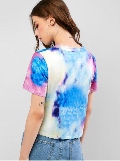 shop Short Sleeve Stretchy Tie Dye Tee - MULTI-A XL Mobile