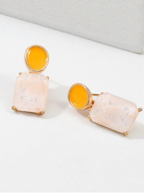 Boucles d'Oreilles Géométriques Ovales en Acrylique - Blanc  Mobile