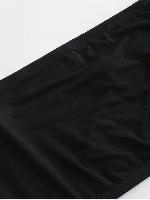 ZAFUL Ensemble de Haut Tube et de Short Paperbag Rayé - Crème L Mobile