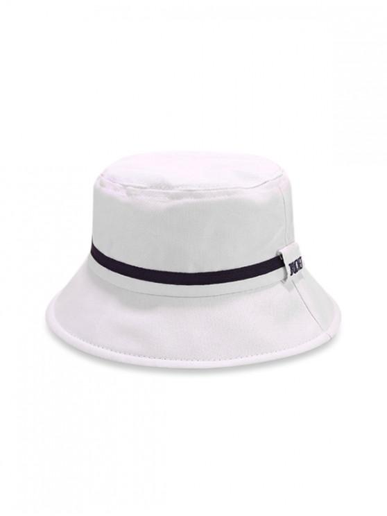 Cappello secchiello a righe color block - Bianca