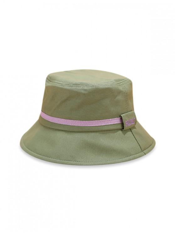 Cappello secchiello a righe color block - Verde Bruno Chiaro