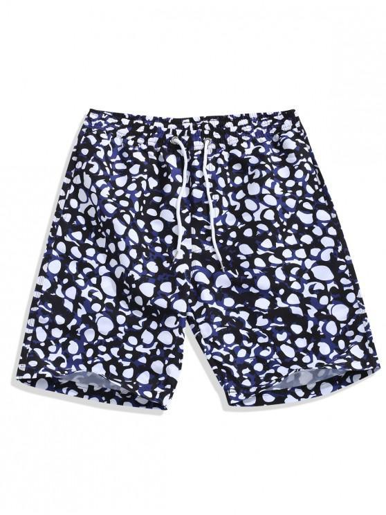 Shorts de playa con estampado irregular - Multicolor L