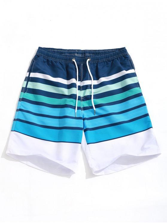 Strisce colorate Allover stampa casuale Board Shorts - Multi Colori 2XL