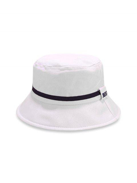 Chapeau de seau à rayures color block - Blanc  Mobile