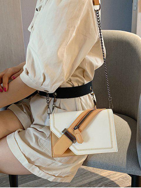 Sac à Bandoulière Décoratif Zippé Jointif - Blanc  Mobile