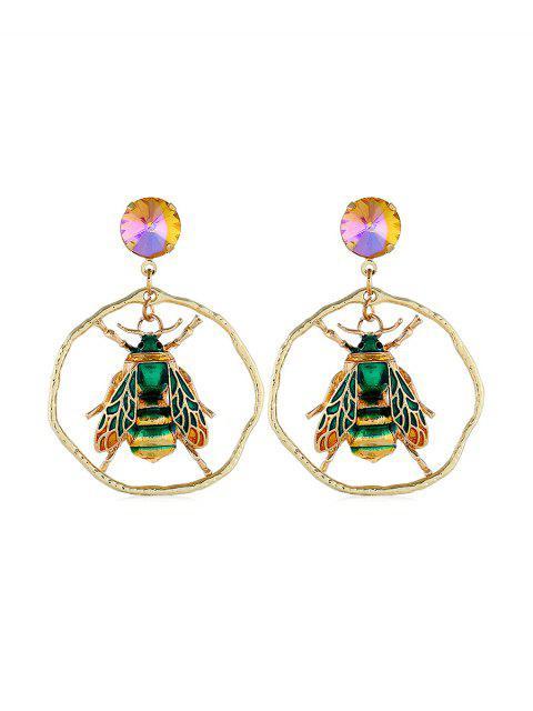 Boucles d'Oreille Insecte Design de Fausse Gemme - Vert profond  Mobile