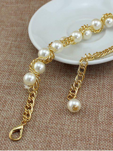 Chaîne de Taille Décorative Perle en Fausse Perle - Blanc  Mobile