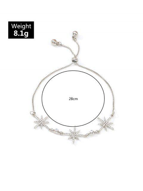 Bracelet Etoile en Alliage avec Strass Incrusté - Argent  Mobile