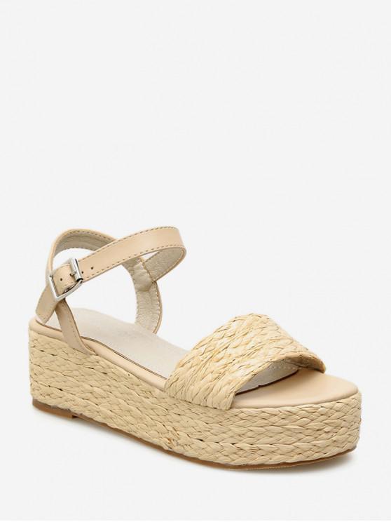 Sandales Simples à Bretelle Bouclées - Abricot EU 38
