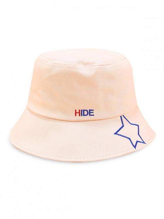 Cappello a secchiello con stampa a stelle - Beige