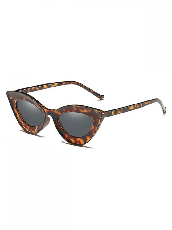 Occhiale da sole Catty Eye Wide Rim Vintage - Leopardo