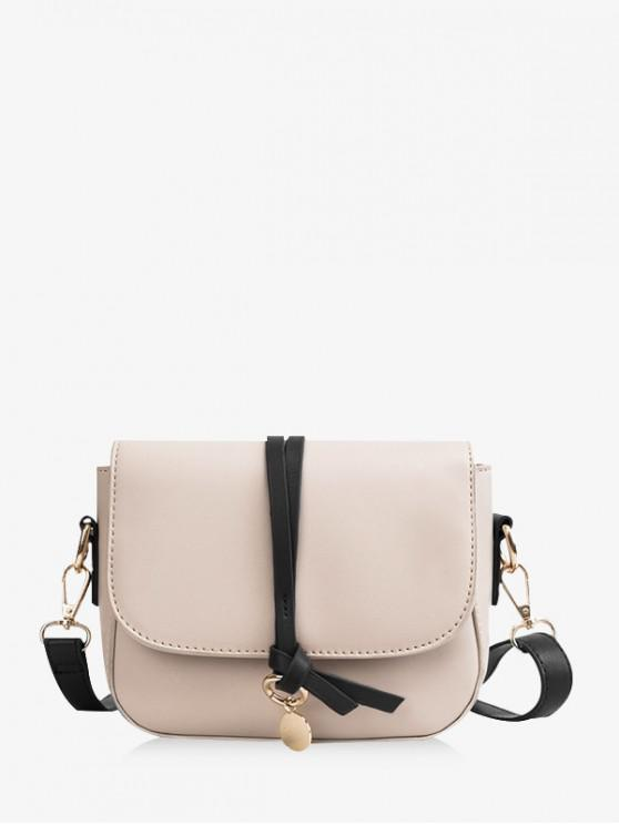 online Simple PU Leather Crossbody Bag - BLACK