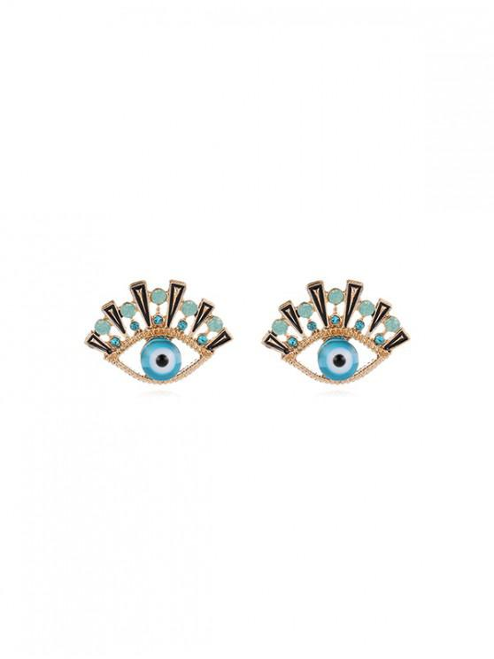 women Creative Rhinestone Eyes Stud Earrings - DAY SKY BLUE