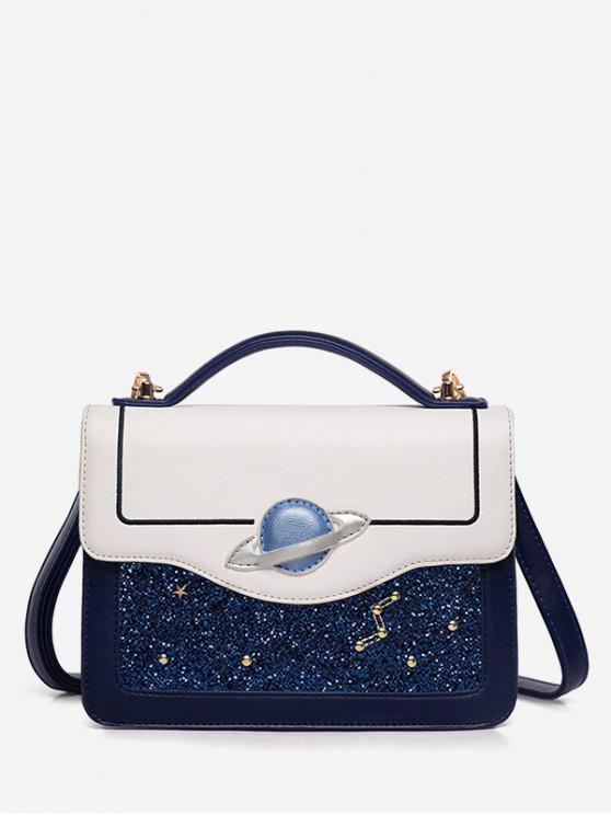 Borsa a tracolla Sky Starry in pelle sintetica - Blu Scura Denim
