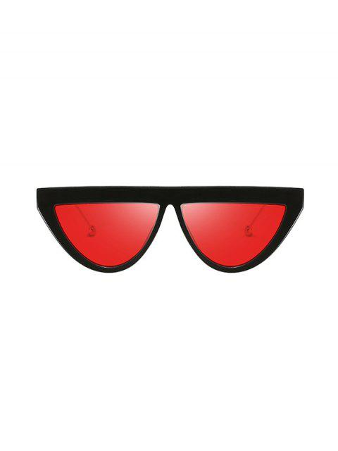 Lunettes de Soleil à Demi-cercle Anti UV - Rouge Rubis  Mobile
