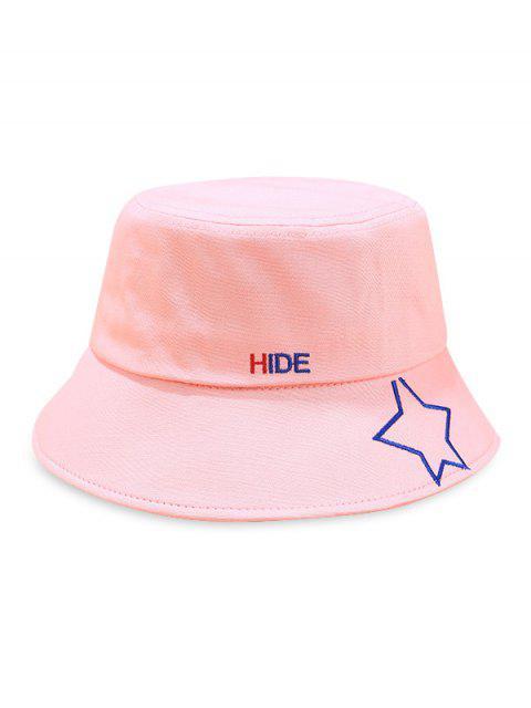 Chapeau de seau imprimé motif étoiles - Rose   Mobile