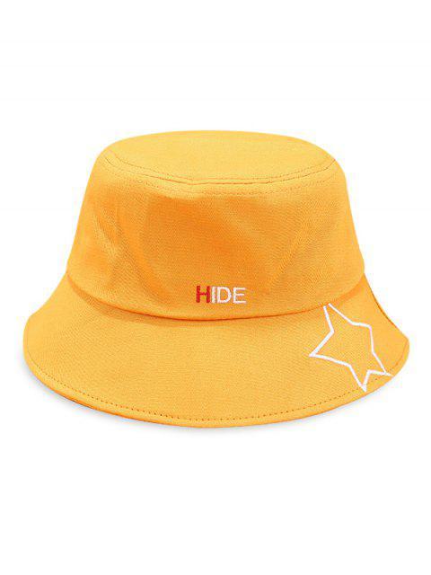 Chapeau de seau imprimé motif étoiles - Jaune  Mobile