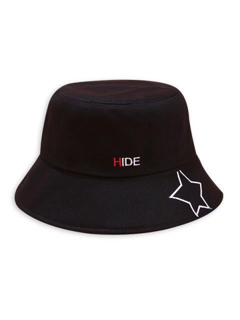 Chapeau Seau Imprimé Motif d'Etoile de Caractère - Noir  Mobile
