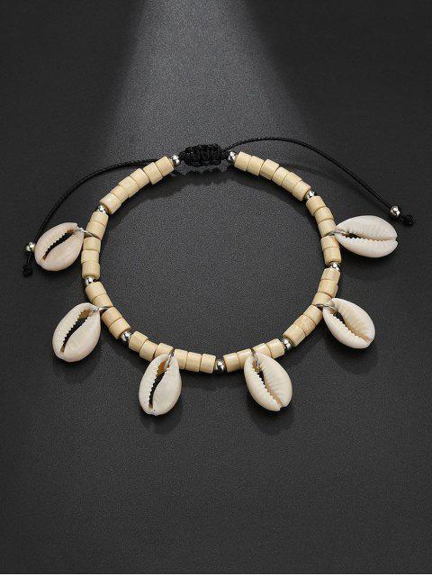 Bracelet de Plage Coquille Perlé Charmant Style Bohémien - Blanc Naturel  Mobile