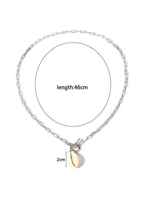 Collier à Chaîne Coquille Pendant Style Bohémien - Argent  Mobile