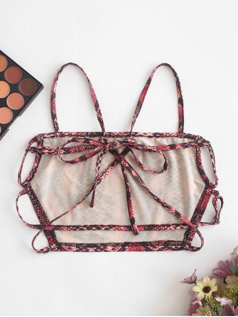 shops ZAFUL Strappy Open Back Dalmatians Snake Print Cami Top - MULTI-B XL Mobile
