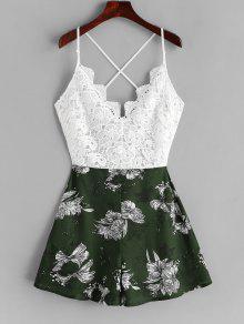 الدانتيل لوحة كريسس الصليب كامي الزهور رومبير - متعددة D S