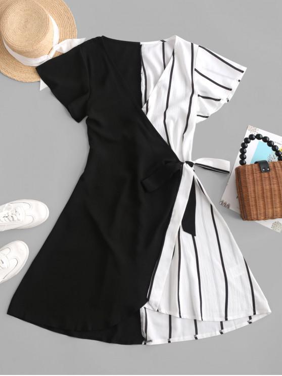 Mini Robe Rayée Contrastée - Multi-A S