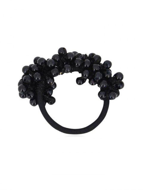 Chouchous Bande de Cheveux Elastique en Fausse Perle - Noir  Mobile