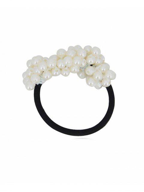 Chouchous Bande de Cheveux Elastique en Fausse Perle - Blanc  Mobile
