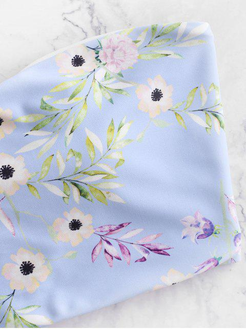 ZAFUL Maillot de Bain Bikini Bandeau Fleur à Lacets - Multi-A M Mobile