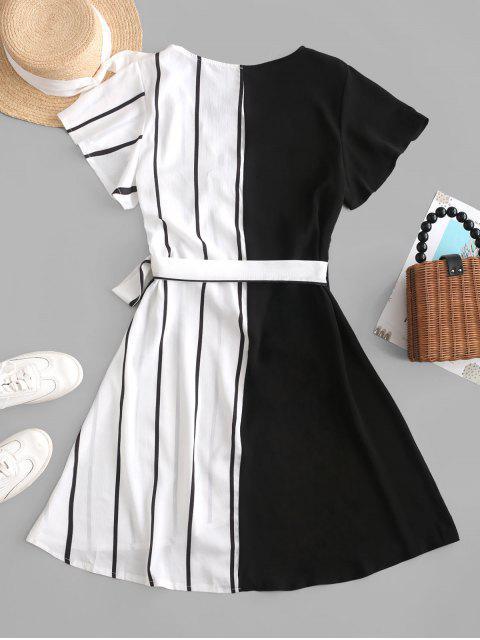 Mini Robe Rayée Contrastée - Multi-A XL Mobile