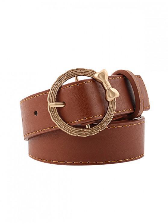 Cintura con fibbia di Bowknot retrò - colore di caffè scuro
