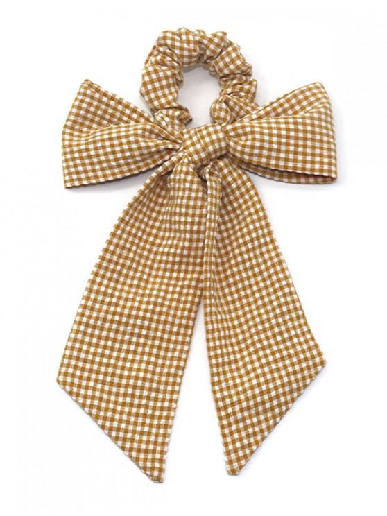 online Plaid Print Bowknot Design Hairband - ORANGE GOLD