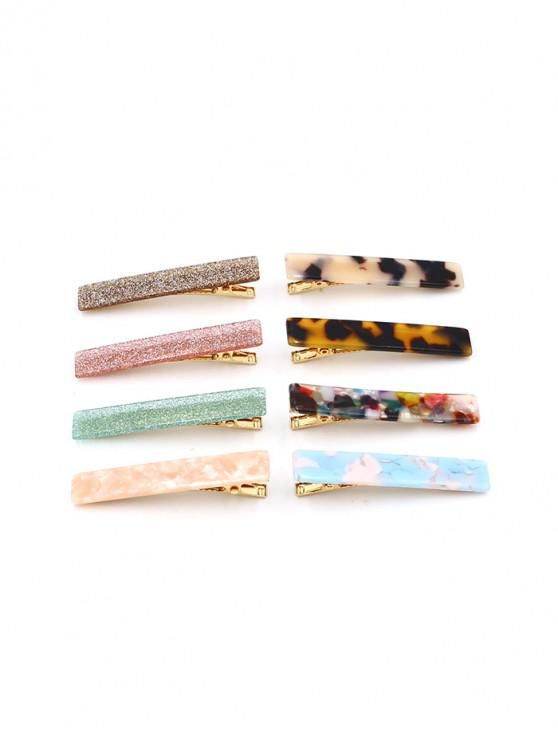 Set di clip per capelli acrilico caramelle geometriche - Multi Colori