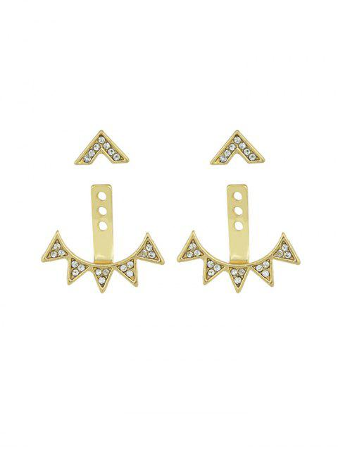 Boucles d'Oreilles Triangle Géométrique avec Strass - Or  Mobile