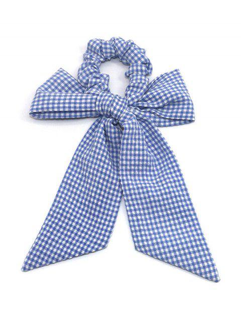 Barrette à Cheveux Imprimé à Carreaux Motif de Nœud Papillon - Bleu Ciel  Mobile